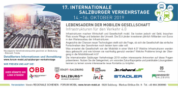 INTERNATIONALE SALZBURGER VERKEHRSTAGE: 14.–16. OKTOBER 2019