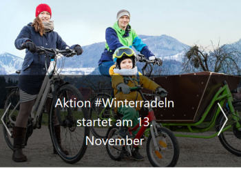 Aktion Winterradeln startet am 13. November